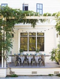 25+ best ideas about Front porch pergola on Pinterest