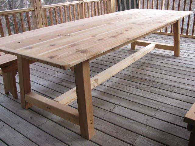Large Outdoor Dining Table  CedarI really like long