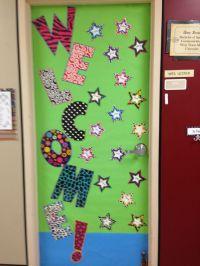 Welcome back classroom door | Classroom posters ...