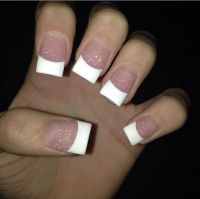 French manicure on square nails | makeup & nails ...