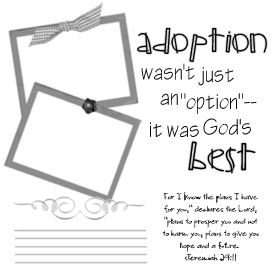 Adoption Was God's Best Choice for our family