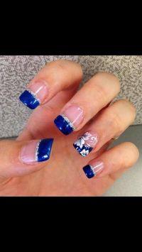 Best 25+ Royal blue nails ideas on Pinterest