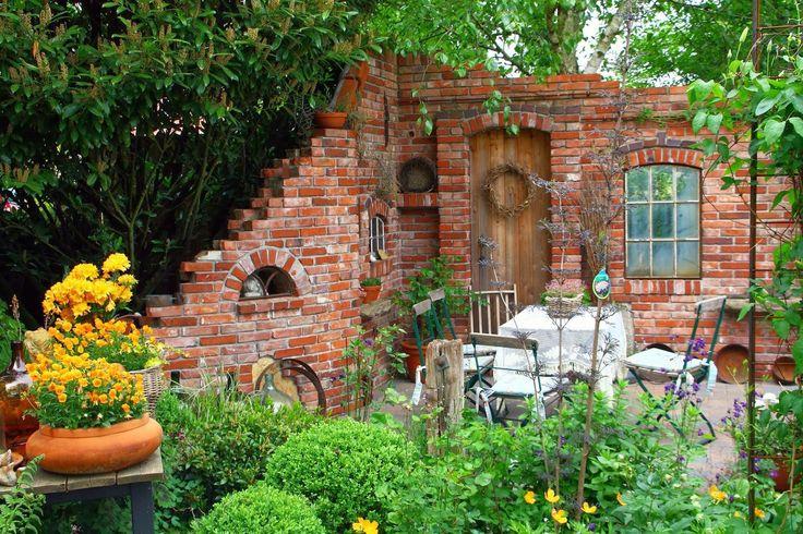 steinmauer garten klinker gartengestaltung ideen modern   moregs, Gartenarbeit ideen