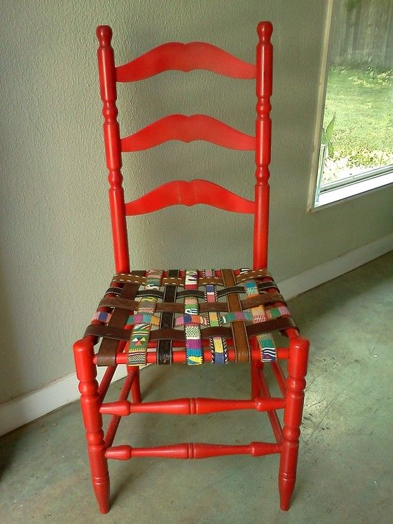Heeeres EARL  upcycled recycled ladder back CHAIR