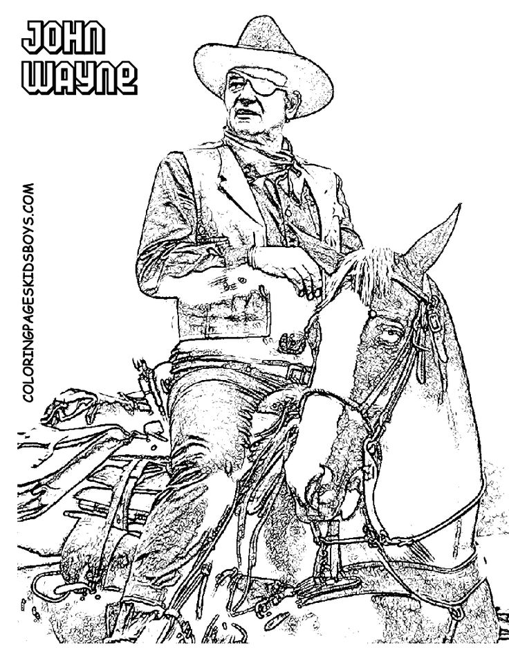 Western Saddles Colouring Pages