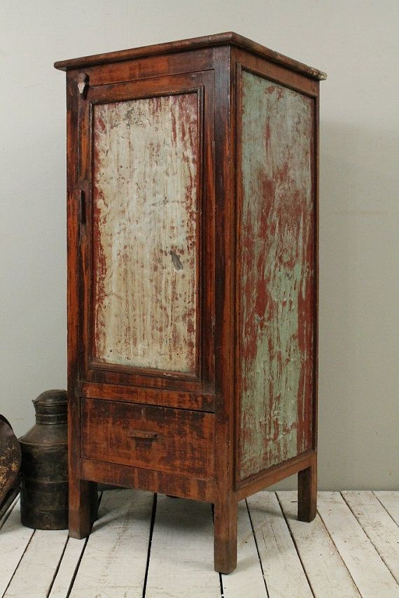 antique metal kitchen cabinet pick a industrial rustic green indian storage bar ...
