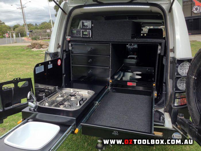 kitchen pantry drawer systems glass cabinets 4wd storage fridge slide system 4x4 offroad camper ...