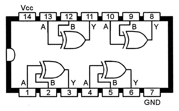 electronic circuit of or gate