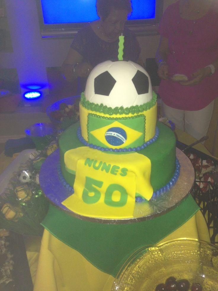 Brazilian Soccer Cake Futebol Brasilero 50th Birthday