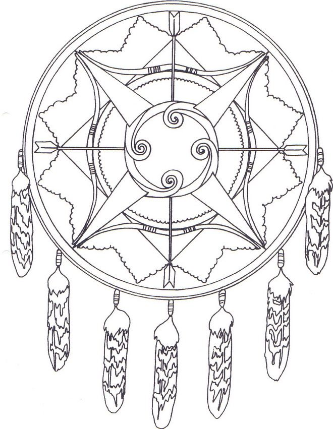 30 Native American Coloring Pages