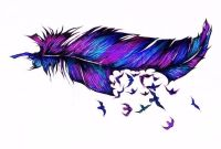 1000+ images about Feather Tattoos on Pinterest | Dream ...