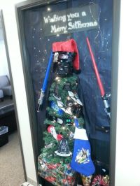 Star wars door decorating idea for Christmas | Christmas ...