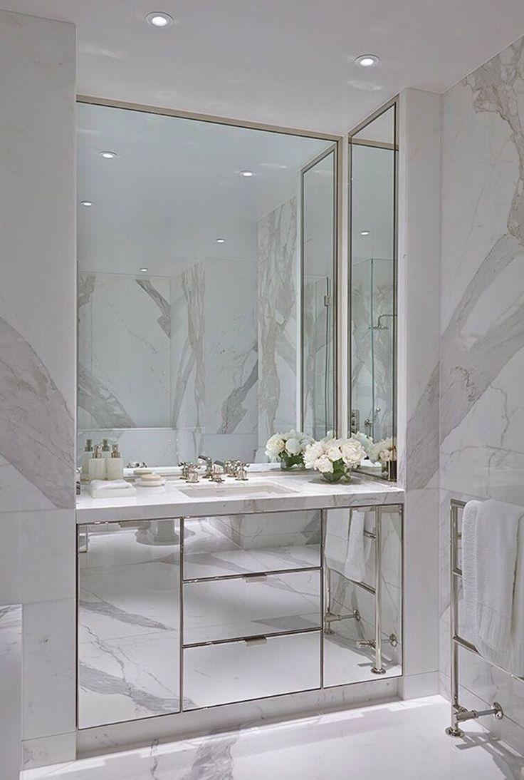 White Mirror Bathroom