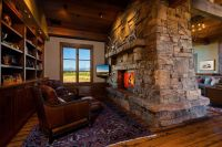 Top 25 ideas about Double Sided Fireplace on Pinterest