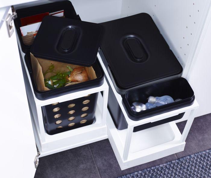 upper kitchen cabinets black flooring ideas variera / utrusta afvalscheiding | #ikea #dagrommel # ...
