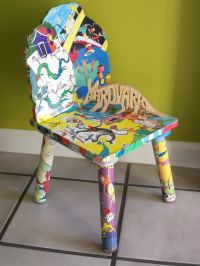 43 best images about Painted child's chair with artistic