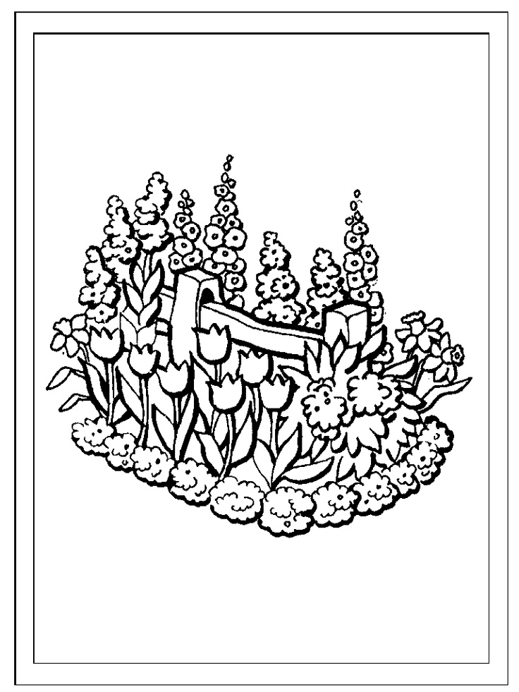 Flowers and garden theme coloring pages and alphabet
