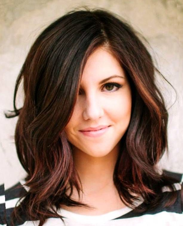 25 Best Ideas About Medium Brunette Hairstyles On Pinterest Mid