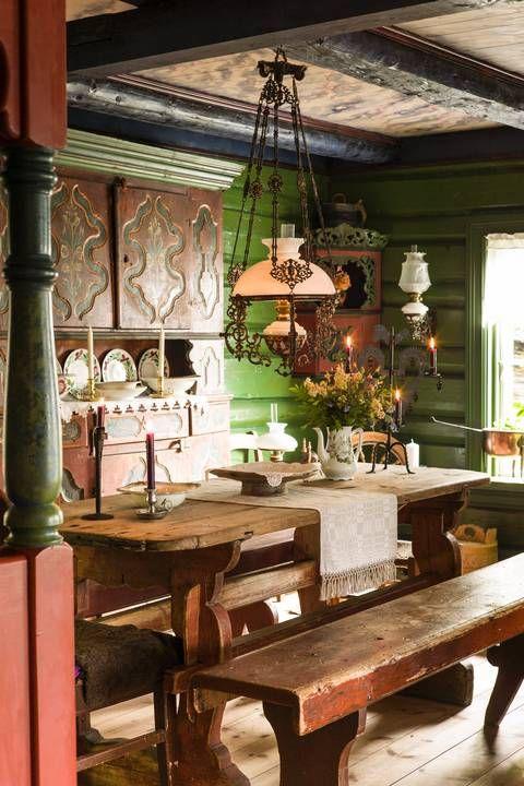 Traditional Norwegian House Home Interior Pinterest