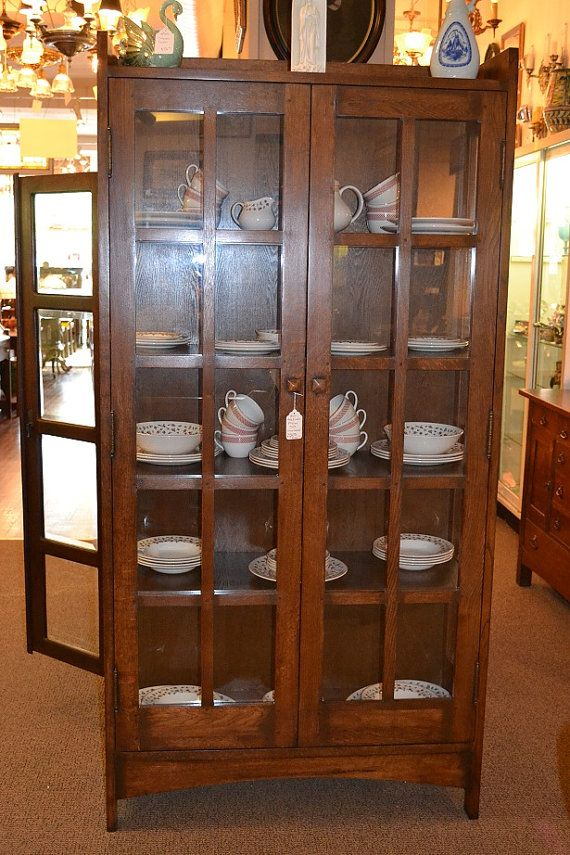 Mission Oak China Cabinet Arts And Crafts Bookcase