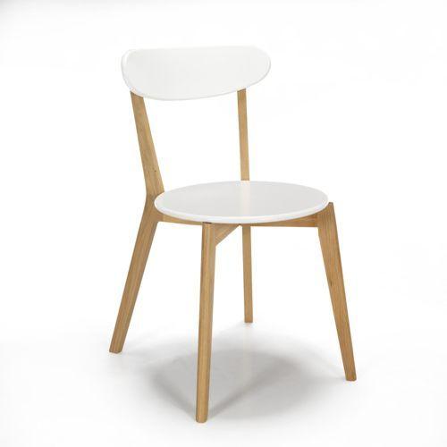vous lattendiez la voila chaise design scandinave coloris blanc siwa