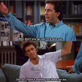 Image result for seinfeld throwing money out