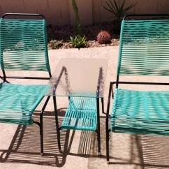 Retro Metal Yard Chairs Wedding Chair Sashes Mid Century Vinyl Cord Patio Set. | Vintage Porch Pinterest Vinyls, ...