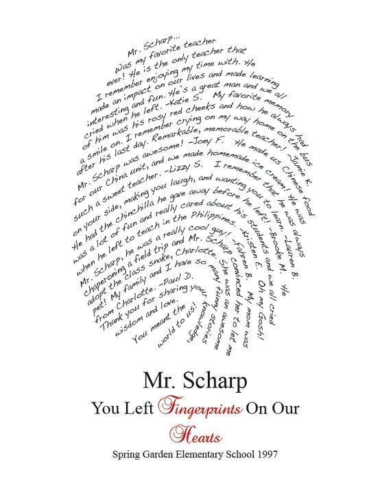Fingerprint Design Personalized for your Class/Teacher