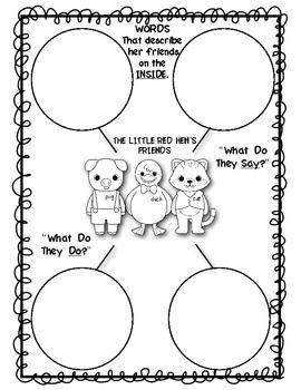 Little Red Hen Literacy Pack: Retelling, Letter Writing