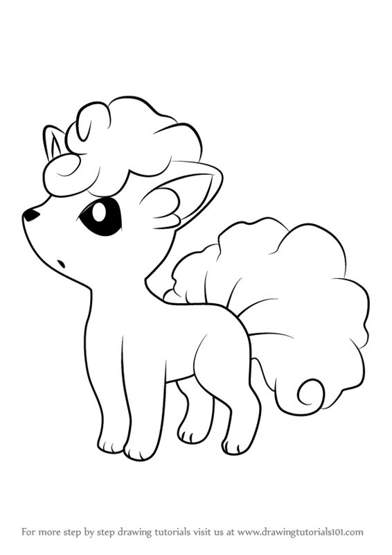 How to Draw Alola Vulpix from Pokemon Sun and Moon