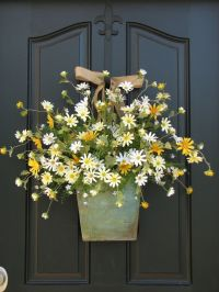 Country Cottage Decor - Front Door Wreath - Daisies ...