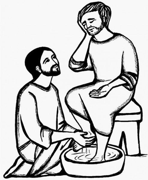 Holy Thursday Washing the Disciples' Feet Catholic