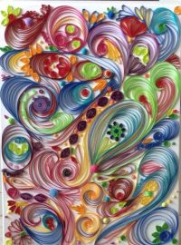 quilling on canvas - Google Search | Quilling - Abstract ...