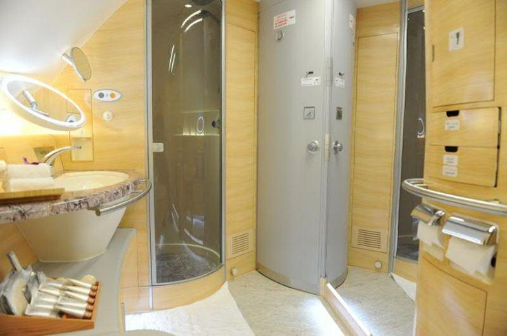 Emirates Airlines shower spas on board the airbus a380