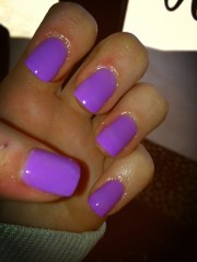 neon purple nail polish nails