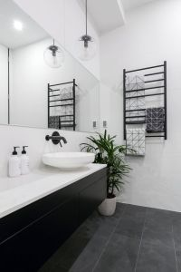 25+ best ideas about Black white bathrooms on Pinterest