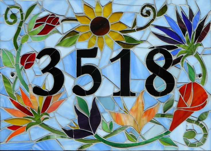 183 Best Images About Mosaic House Numbers On Pinterest Address