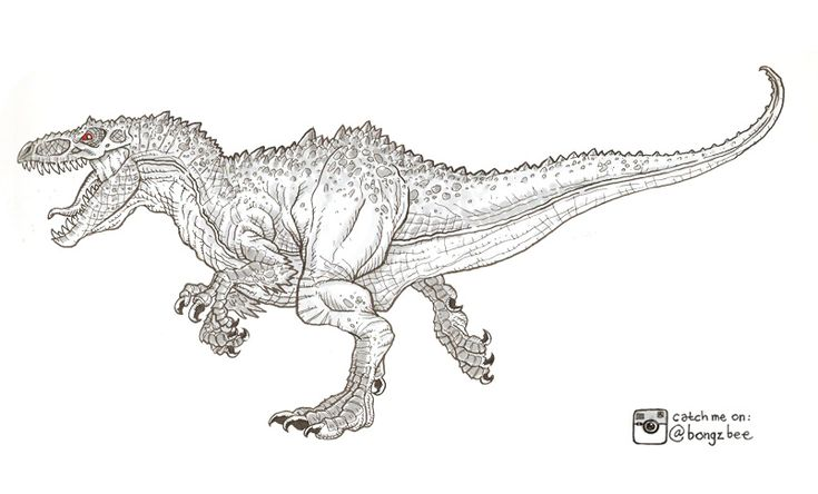Jurassic World Indominous Rex Coloring Pages Coloring