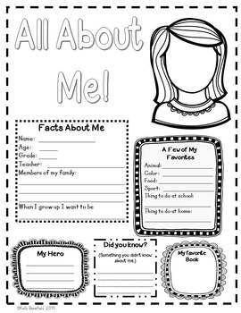 25+ best ideas about All About Me Questions on Pinterest