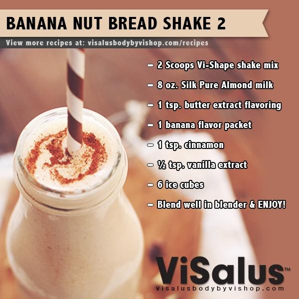 banana nut bread shake 2 visalus bodybyvi shake visalus