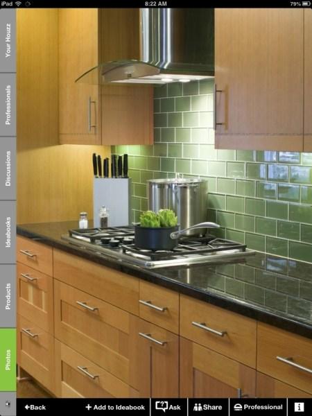 green glass tile kitchen backsplash 19 best images about glass tile backsplash on Pinterest