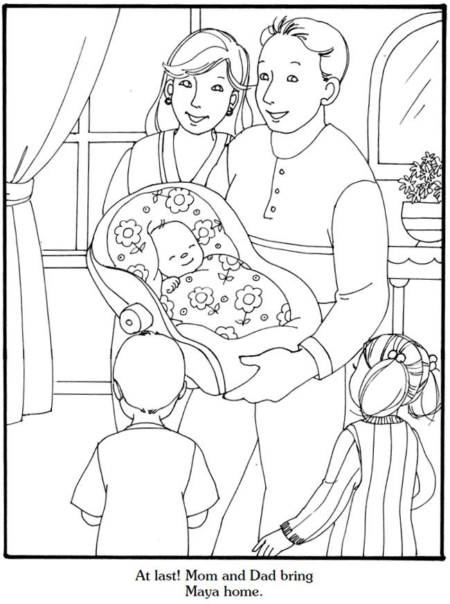 Our New Baby Coloring Book Welcome to Dover Publications
