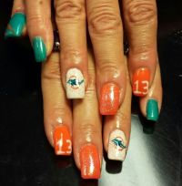 1000+ ideas about Miami Dolphins Nails on Pinterest ...