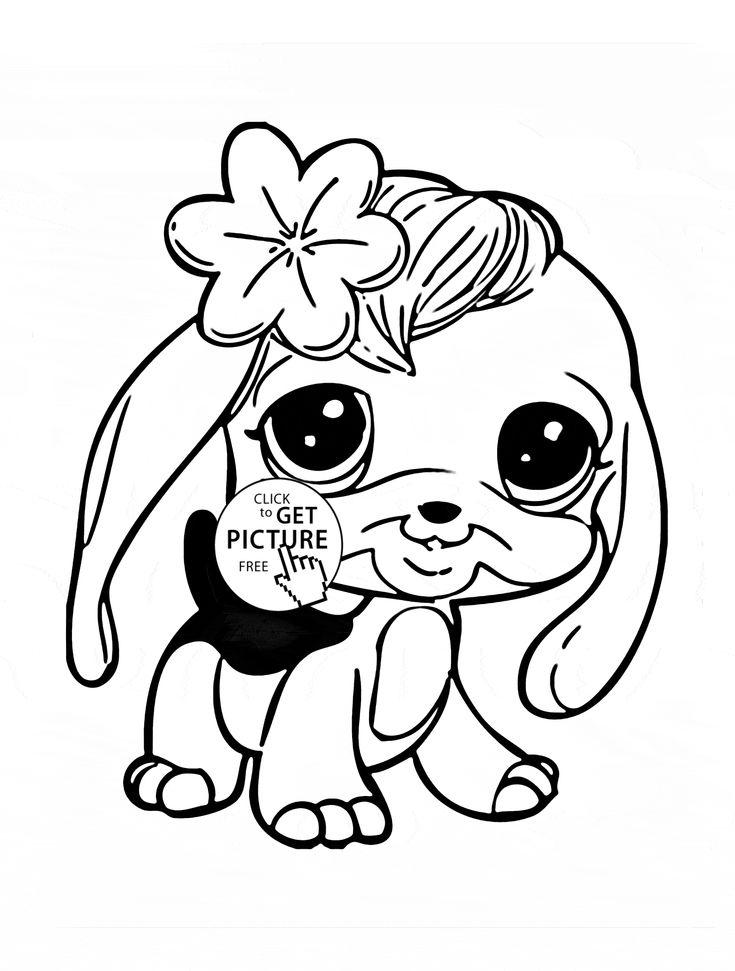 Littlest Pet Shop Panda coloring page for kids, animal