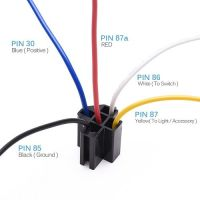 12V 30/40 amp 5 pin SPDT automotive relay with wires ...