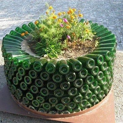 25 Best Ideas About Wine Bottle Garden On Pinterest Cutting