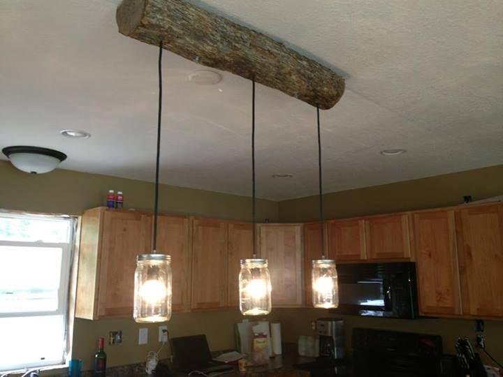 DIY cabin light fixture