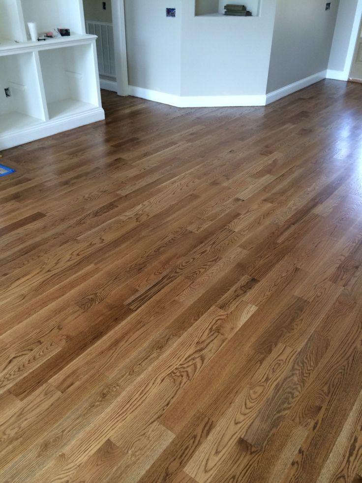 Special Walnut floor color from Minwax Satin finish  New