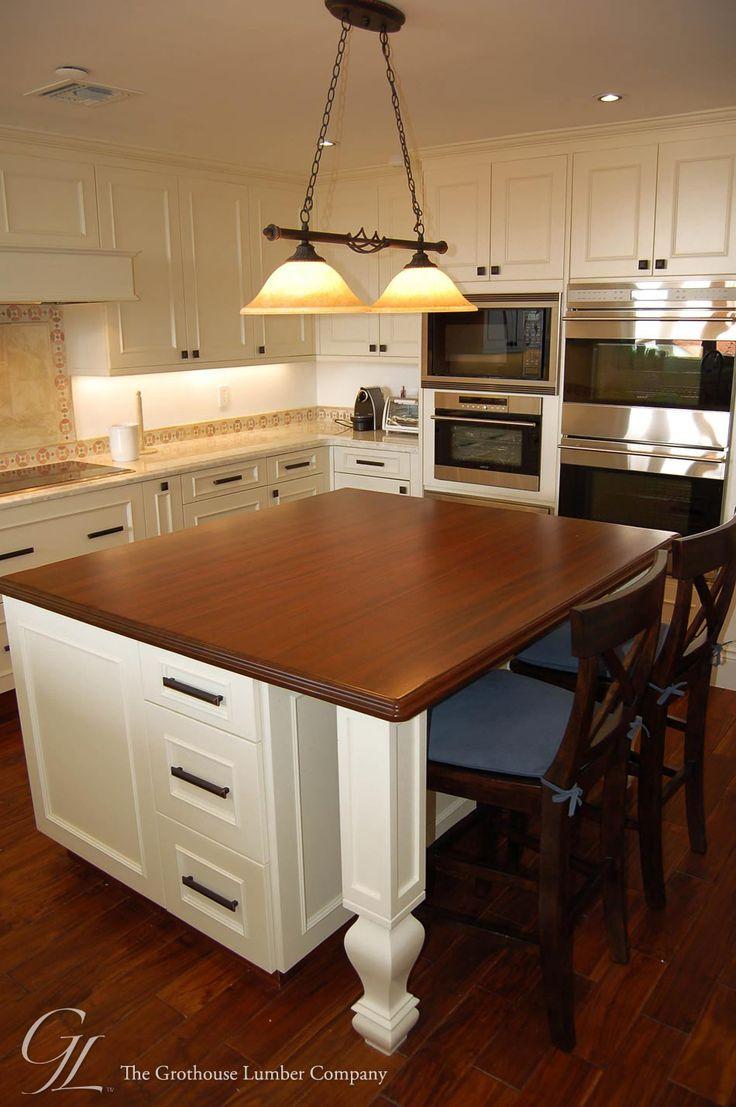 mahogany kitchen island orange rugs custom wood countertop in miami florida ...