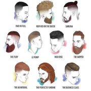 men's hair cuts and beard chart